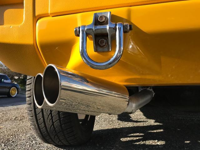 タイプS 4WD 新品ナビ 1ナンバー サンルーフ 革シート バックカメラ ヘッドレストモニター エンジンスターター BOSEスピーカー 社外22AW ヒッチメンバー 4本出ワンオフマフラー ローダウン LEDライト&フォグ 社外マフラー メッキパーツ(63枚目)