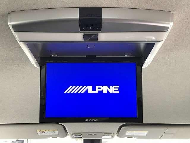 アルパイン製リアモニターを装着しており後席の方も映像がみれて、より一層ドライブが楽しくなります。