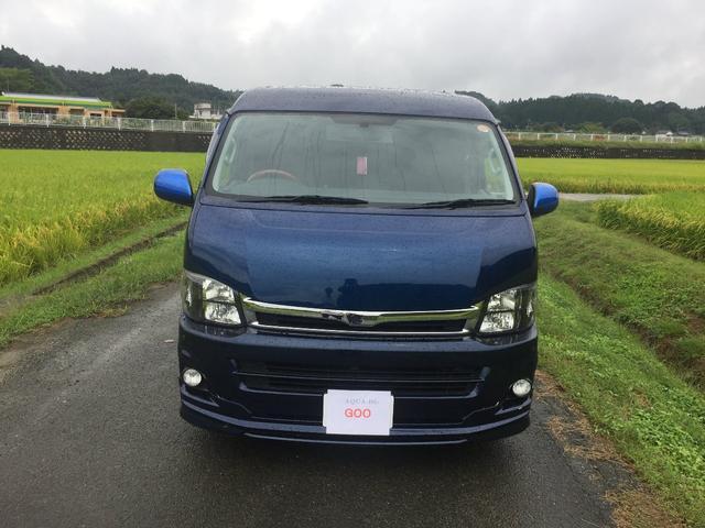 トヨタ ハイエースバン ロングワイドスーパーGL 社外ナビ モニター 社外アルミ