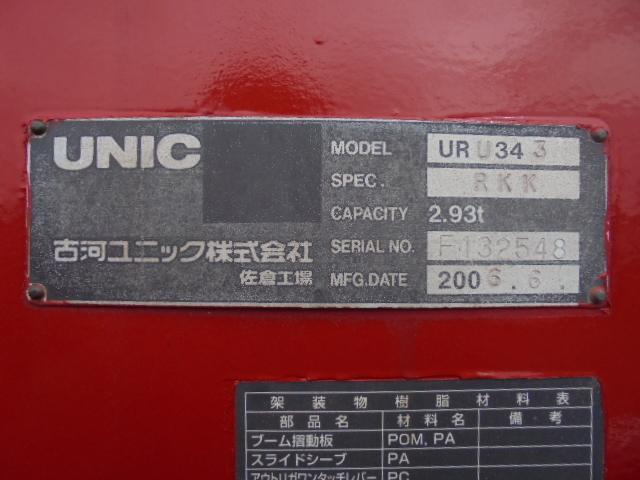 3段クレーンフックイン ラジコン付き URU343(古河ユニック)。