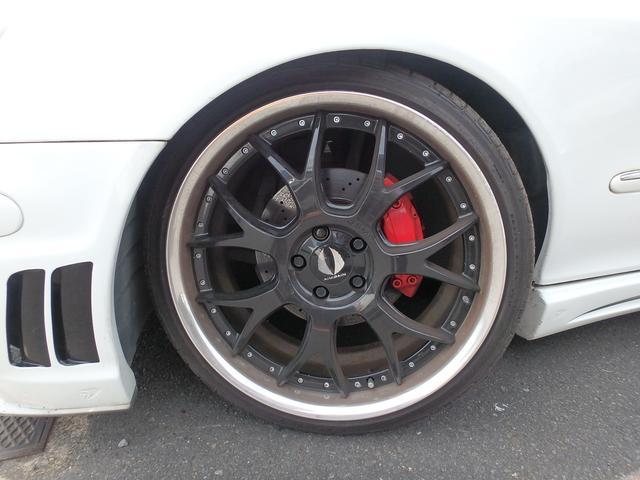 メルセデス・ベンツ M・ベンツ S320 エイムゲイン20inアルミ ブラックバイソンエアロ