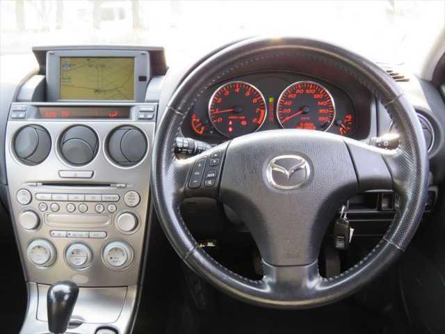 マツダ アテンザスポーツワゴン 23S エアロ アルミ キーレス レザーシート グー鑑定車