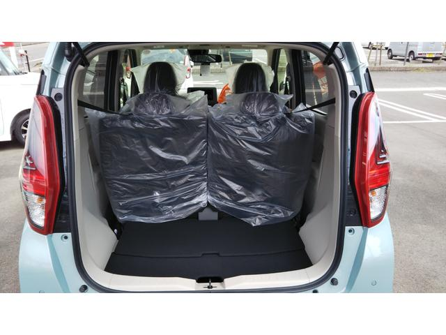 X 届出済未使用車 エマージェンシーブレーキ コーナーセンサー バッグビューモニター(ルームミラー) 特別塗装色 スマートキー プッシュスタート アルミホイール14インチ ベンチシート プライバシーガラス(52枚目)