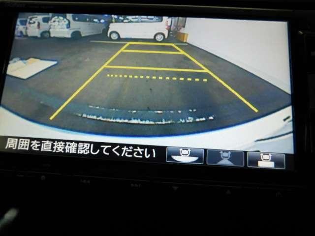 後方確認が便利なバックカメラ搭載、バックが苦手な方も安心して運転できますよ。