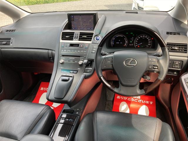 HS250h バージョンI OP18inアルミ 純正フルエアロ トランクスポイラー レザーエアシート シートヒーター ナビTV バックカメラ フロントカメラ DVD Bluetooth レーダークルーズコントロール オートLED(18枚目)