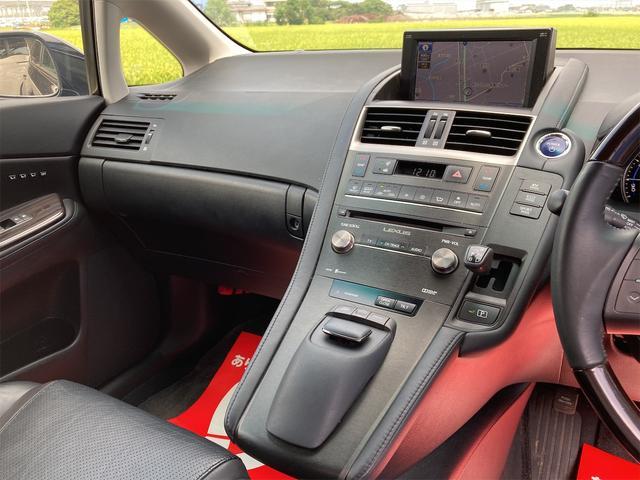 HS250h バージョンI OP18inアルミ 純正フルエアロ トランクスポイラー レザーエアシート シートヒーター ナビTV バックカメラ フロントカメラ DVD Bluetooth レーダークルーズコントロール オートLED(38枚目)