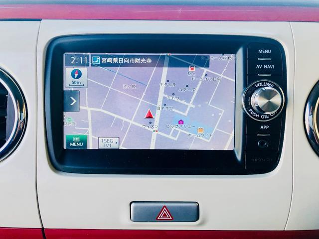 X SDナビ TV バックカメラ Bluetooth 新品タイヤ4本 純正アルミ HIDライト 禁煙車 スマートキー アイドリングストップ ベンチシート フルフラット Goo鑑定車(4枚目)
