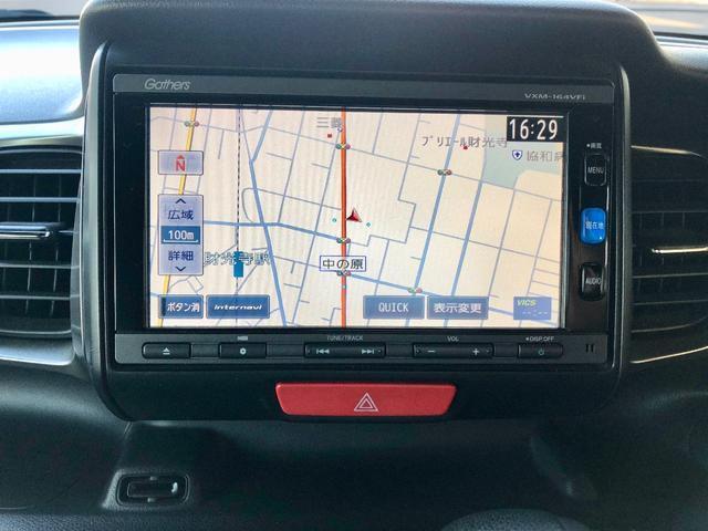 G・ターボLパッケージ SDナビ 地デジTV バックカメラ Bluetooth 衝突軽減ブレーキ ETC クルーズコントロール HIDヘッドライト 新品アルミ プッシュスタート 電子パーキング 記録簿 取説 Goo鑑定車(4枚目)