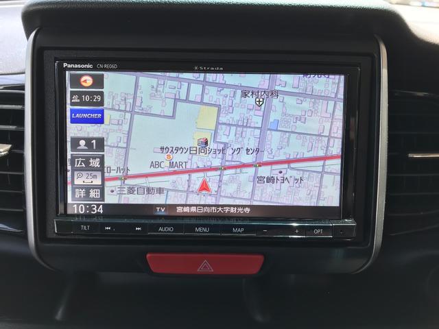 G・ターボパッケージ ワンオーナー ターボ車 新品SDナビ 地デジTV バックカメラ Bluetooth ドラレコ前後 両側電動スライド ETC オートクルーズ 純正エアロ 15インチアルミ HIDライト スマートキー(4枚目)