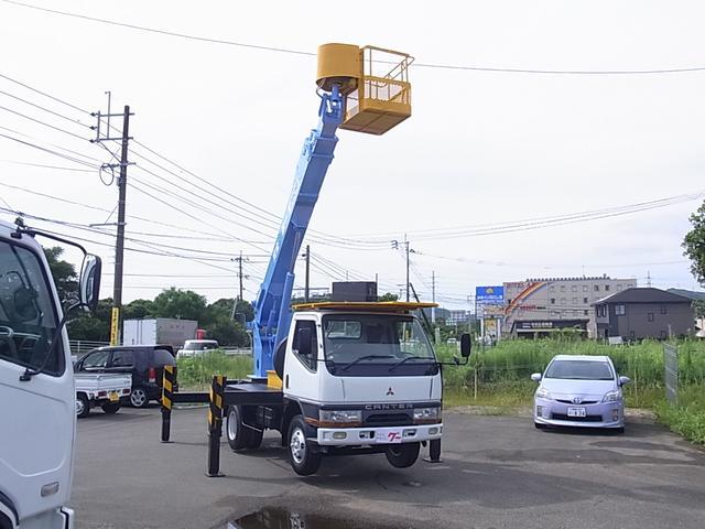 三菱ふそう キャンター 高所作業車 AICHI製12mクレーン
