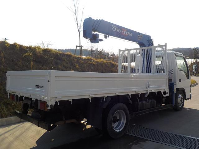 いすゞ エルフトラック 4.8D標準ボディ4段クレーンフックイン2.6t吊5速MT