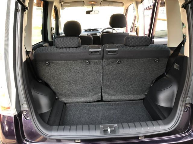 ステラは背も高く、角ばったお車ですので、荷室も最大限ご利用頂けます。左右分割してシートを倒していただくと、大きなお荷物もすんなり入れることが出来ます。