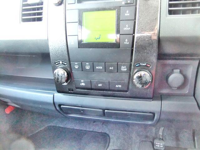 車内純正オーディオ。