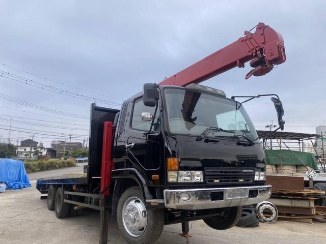 重機運搬車 最大積載量10000kg ユニック製5段クレーン フックイン ラジコン付き ハイジャッキ NOx・PM適合車(2枚目)