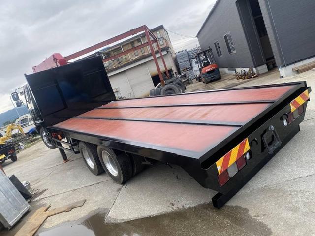 重機運搬車 最大積載量10000kg ユニック製5段クレーン フックイン ラジコン付き ハイジャッキ NOx・PM適合車(4枚目)