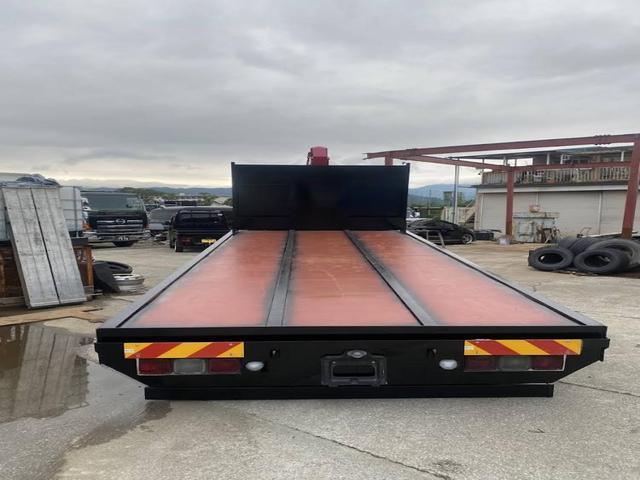重機運搬車 最大積載量10000kg ユニック製5段クレーン フックイン ラジコン付き ハイジャッキ NOx・PM適合車(7枚目)
