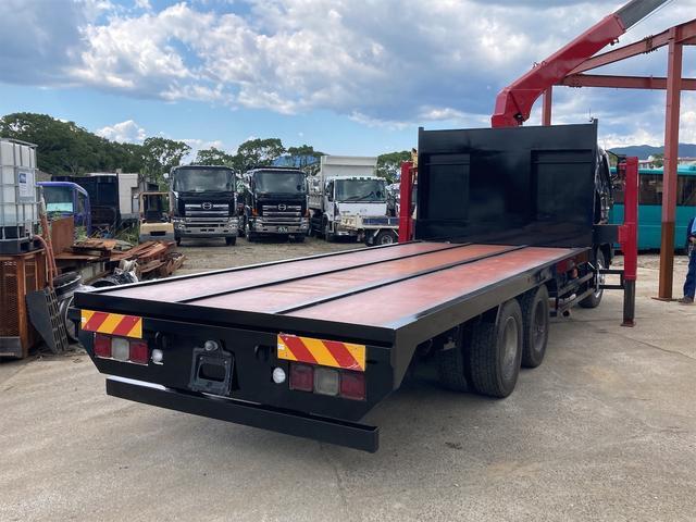 重機運搬車 最大積載量10000kg ユニック製5段クレーン フックイン ラジコン付き ハイジャッキ NOx・PM適合車(19枚目)