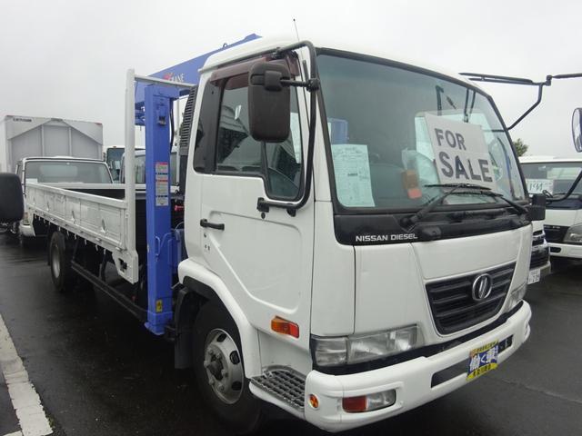 2.7t セルフ重機回送車 タダノ4段ロングジャッキー(3枚目)