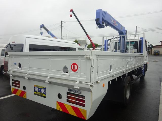 2.7t セルフ重機回送車 タダノ4段ロングジャッキー(5枚目)