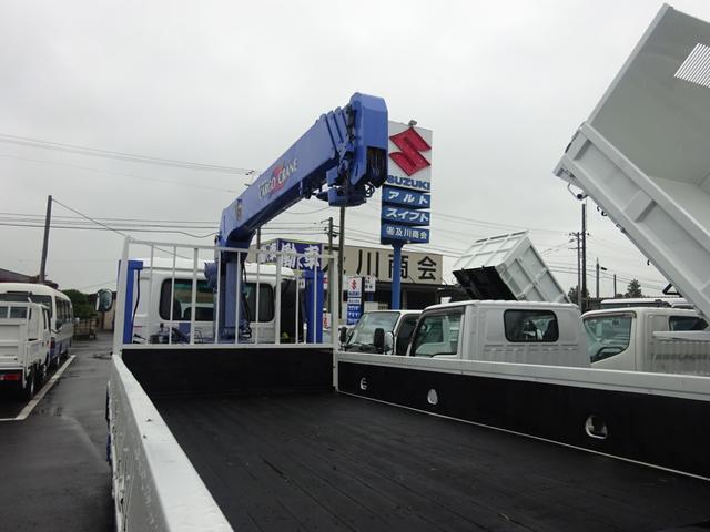 2.7t セルフ重機回送車 タダノ4段ロングジャッキー(9枚目)