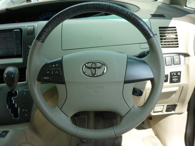 トヨタ エスティマハイブリッド X 両側電動スライドドア 純正ナビ地デジ フロントビューM