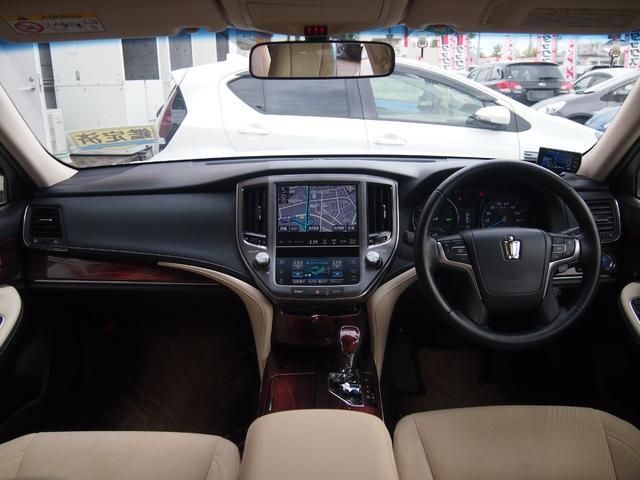 ロイヤルサルーン 衝突被害軽減ブレーキ 純正HDDナビ Bカメ ETC Bluetooth対応 シートヒーター ステアリングヒーター クルコン クリアランスソナー 革巻きハンドル 修復歴無し 保証付き(16枚目)