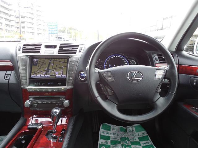 レクサス LS LS600h4WD本革エアシート電動リアシェード