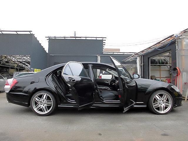メルセデス・ベンツ M・ベンツ S500ロング 黒革 SR ナイトビジョン 社外20AW