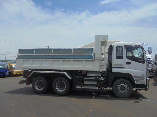 いすゞ ギガ 大型ダンプ Lゲート 自動シート QKG-CXZ77AT