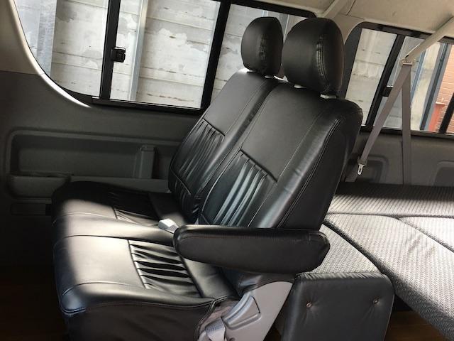 GL 4WD ローダウン ブラックアウトカスタム インナーブラックヘッドライト パワスラ トーヨーH20ホワイトレター フリップダウンモニター オーバーフェンダー ウッドコンビハンドル 木目調パネル(11枚目)