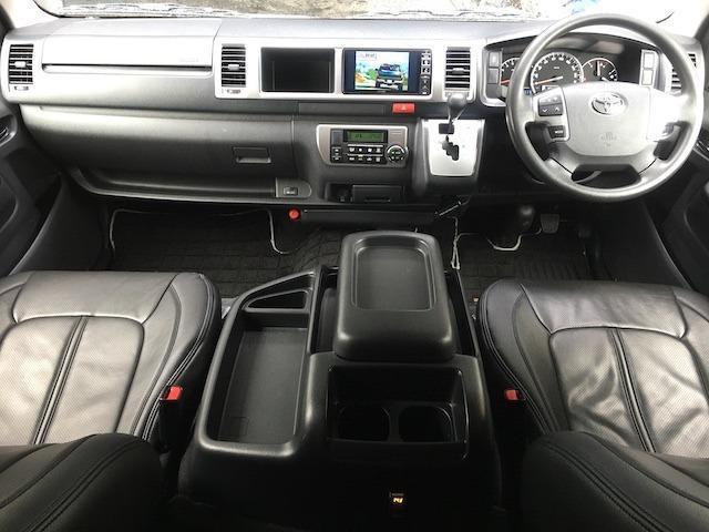 グランドキャビン 特別架装車ファインテックツアラー 4WD 新品バルベロ17インチAW 新品ナスカーイーグル1 全席シートカバー アルパインメモリナビ アルパインフリップダウンモニター 片側パワースライドドア(6枚目)