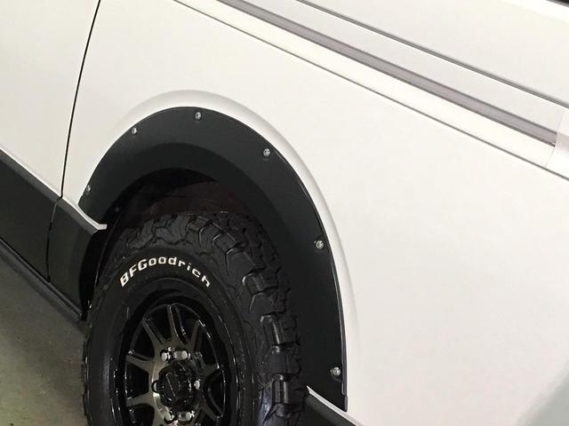 スーパーGL ダークプライムII 4WD 5型 ディーゼル BFグッドリッチA/Tタイヤ16インチ新品&WEDSマッドヴァンス06ホイール ブルバー フロントスポイラー 両側パワスラ プリクラッシュセーフティ オートマチックハイビーム(75枚目)
