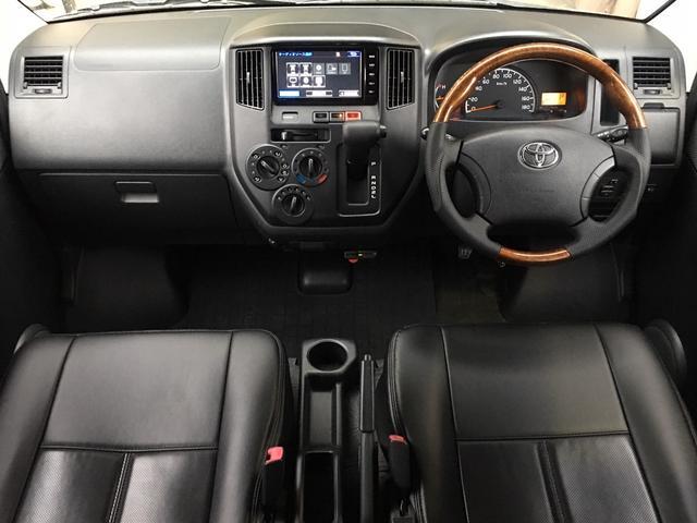 GL NEWペイント/ベージュ トランクフロアフローリング仕様 40ミリリフトアップ ウッドコンビハンドル マキシスバックショット 全塗装済 SDナビ 黒革調シートカバー エクストリームJ14インチアルミ(4枚目)