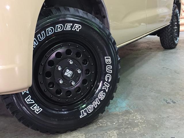 GL NEWペイント/ベージュ トランクフロアフローリング仕様 40ミリリフトアップ ウッドコンビハンドル マキシスバックショット 全塗装済 SDナビ 黒革調シートカバー エクストリームJ14インチアルミ(15枚目)