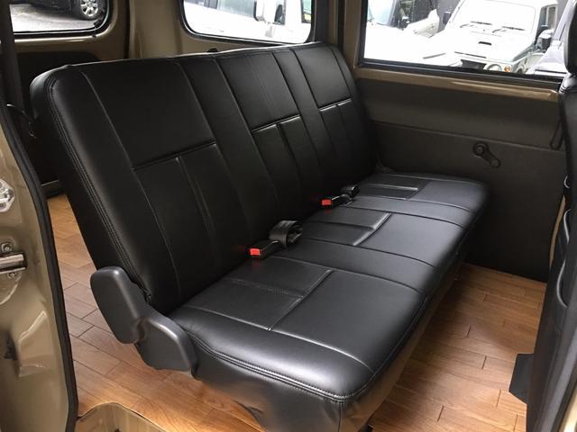 GL NEWペイント/ベージュ トランクフロアフローリング仕様 40ミリリフトアップ ウッドコンビハンドル マキシスバックショット 全塗装済 SDナビ 黒革調シートカバー エクストリームJ14インチアルミ(27枚目)