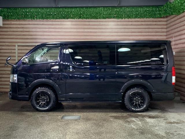 スーパーGL ダークプライムII 4WD 純正エンジンスターター オーバーフェンダー セミグロスブラックペイント WEDSマッドヴァンス06新品16インチAW 新品BFグッドリッチ フロントバンパーガードLED フリップダウンモニター(8枚目)