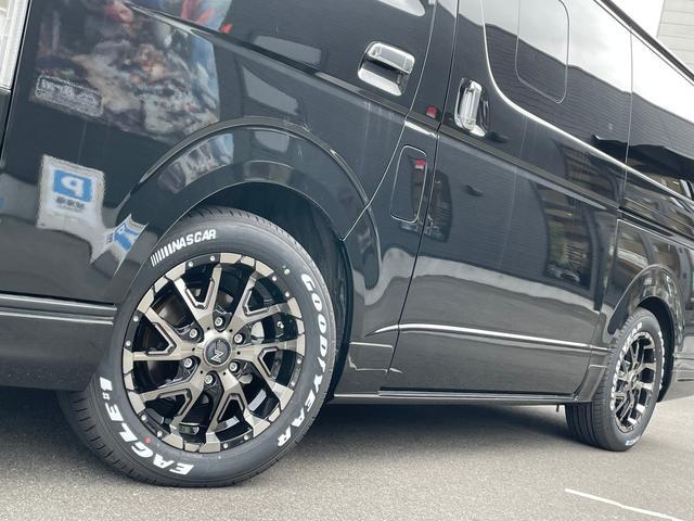 スーパーGL ダークプライムII 4WD6型 禁煙車 TRDフロント/サイドリアスポイラー 1.5インチローダウン デジタルインナーミラー プリクラッシュセーフティ レーンディパーチャーアラート オートマチックハイビーム 100V電源(24枚目)