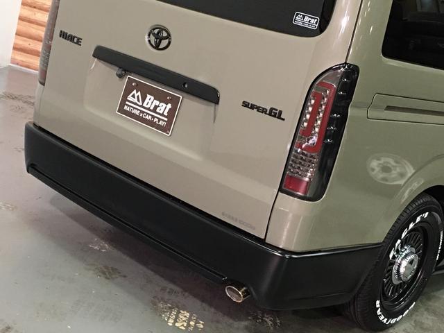 ロングスーパーGL 4WD ディーゼル NEWペイント/エメラルドグレーメタリック DEANカリフォルニア新品ホイール グッドイヤーイーグル#1ナスカー新品タイヤ セミグロスブラックアウト 後席ダークプライム専用シート(28枚目)