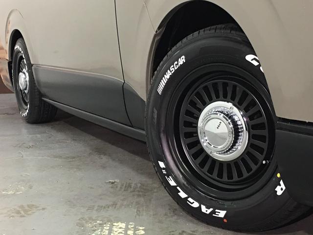 ロングスーパーGL 4WD ディーゼル NEWペイント/エメラルドグレーメタリック DEANカリフォルニア新品ホイール グッドイヤーイーグル#1ナスカー新品タイヤ セミグロスブラックアウト 後席ダークプライム専用シート(35枚目)