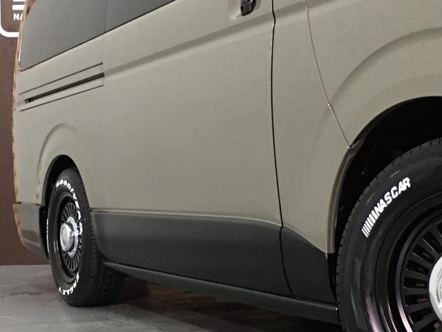 ロングスーパーGL 4WD ディーゼル NEWペイント/エメラルドグレーメタリック DEANカリフォルニア新品ホイール グッドイヤーイーグル#1ナスカー新品タイヤ セミグロスブラックアウト 後席ダークプライム専用シート(36枚目)