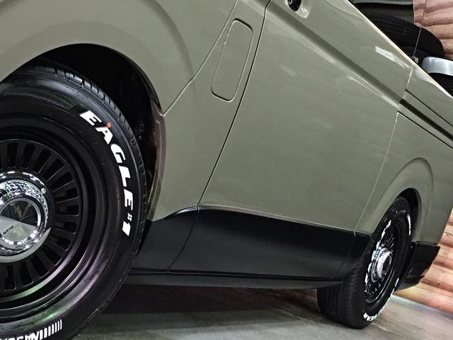 ロングスーパーGL 4WD ディーゼル NEWペイント/エメラルドグレーメタリック DEANカリフォルニア新品ホイール グッドイヤーイーグル#1ナスカー新品タイヤ セミグロスブラックアウト 後席ダークプライム専用シート(37枚目)