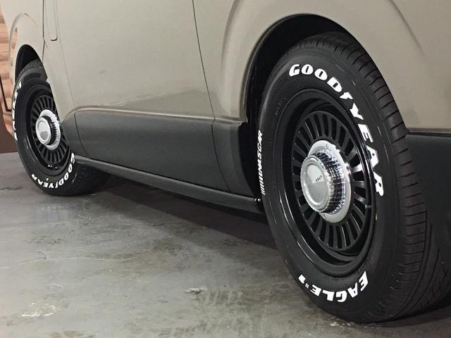 ロングスーパーGL 4WD ディーゼル NEWペイント/エメラルドグレーメタリック DEANカリフォルニア新品ホイール グッドイヤーイーグル#1ナスカー新品タイヤ セミグロスブラックアウト 後席ダークプライム専用シート(38枚目)