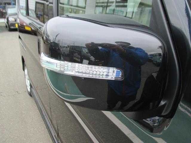LEDサイドターンランプ付ドアミラー。