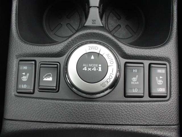 2駆・4駆の駆動切替は、スイッチで可能です。季節や状況によって使い分けができます!!