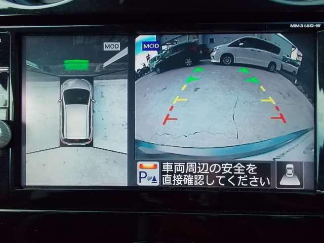 アラウンドビューモニターとセンサーも付いているので駐車が苦手な方も安心です♪