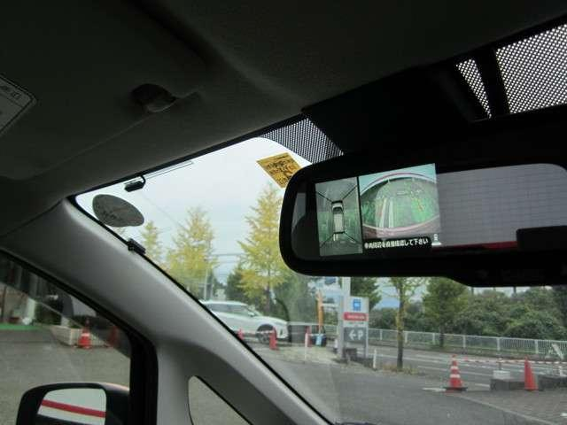 慣れない場所での駐車もこれで安心♪上から見下ろしたように自分の位置を確認できるアラウンドビューモニター搭載!