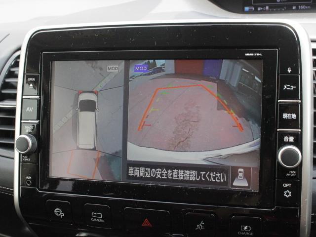 360度、さまざまな視点からクルマの周囲を見守ろう。アラウンドビューモニターは上空から見下ろしているかのような映像をディスプレイに映し出し、スムースな駐車をサポートします。