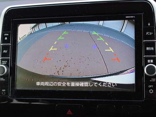 日産純正ナビMM516D-L付き。9インチの大画面