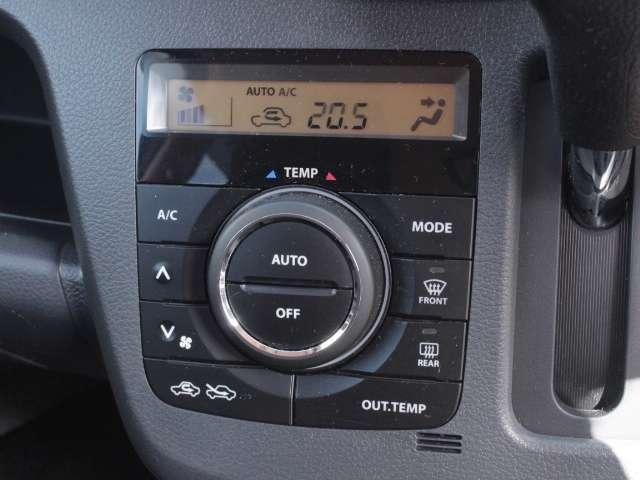 オートエアコンなのでお好みの温度に車内温度を調整可能