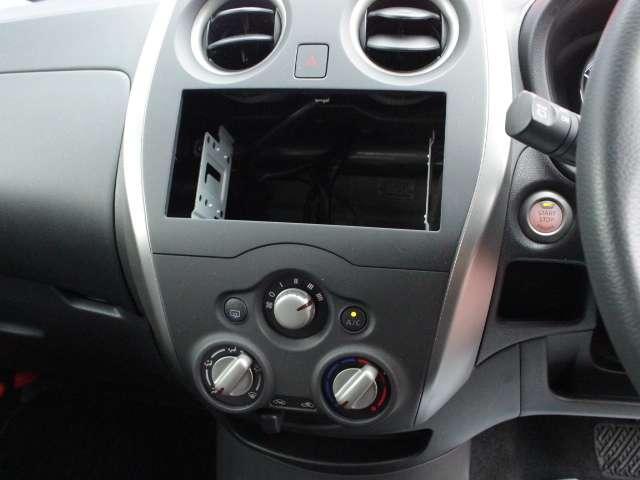 オーディオレス車ですのでお好きなナビをお選びください。